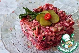 Рецепт: Зимний салат из свеклы