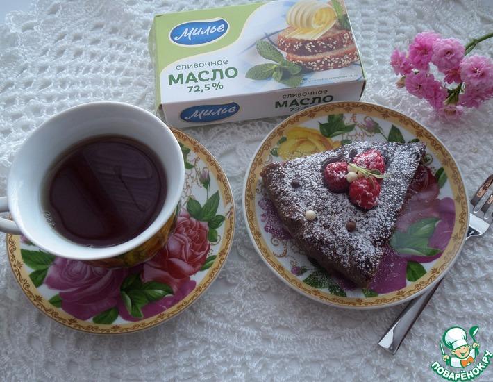 Рецепт: Шоколадный пирог с творогом
