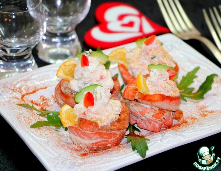 Рецепт: Рыбная закуска с креветками Соблазн