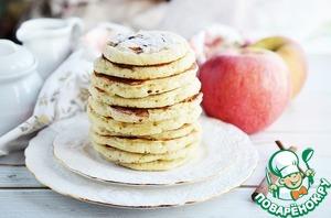 Рецепт: Оладьи с корицей и яблочным припеком