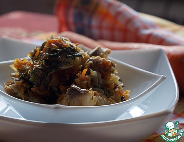 Рецепт: Рыбный микс с луком и морковью