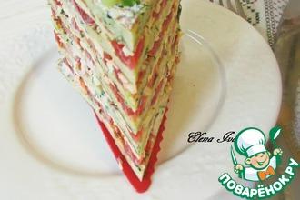 Рецепт: Кабачковый торт с помидорами и сыром