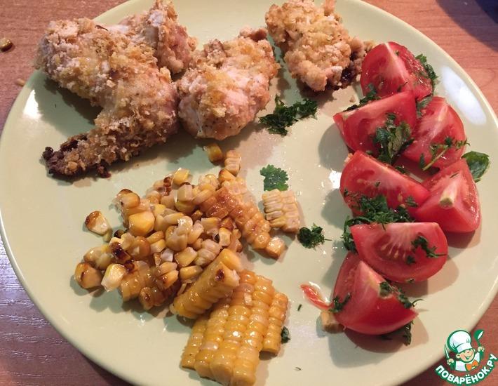 Рецепт: Курица в панировке от Джеймса Оливера