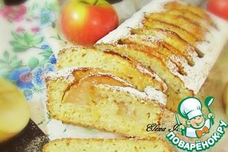 Рецепт: Влажный кекс с яблоками и кунжутом