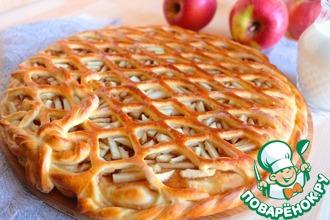 Рецепт: Пирог с яблоками и повидлом