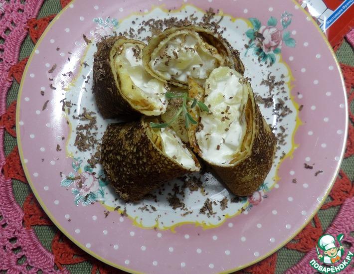 Рецепт: Йогуртовые блины с ананасом