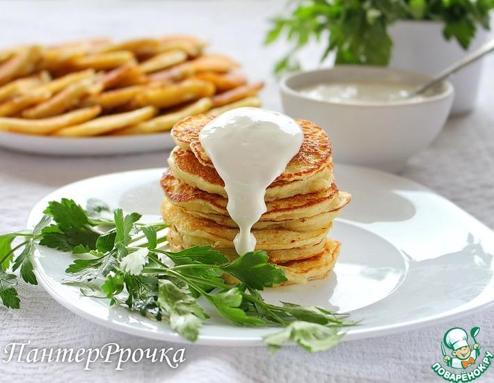 Рецепт: Дрожжевые картофельные оладьи