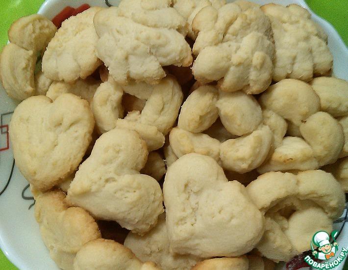 Рецепт: Печенье песочное