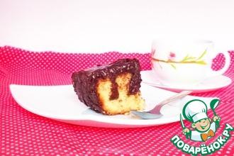 Рецепт: Дырявый пирог с шоколадной заливкой