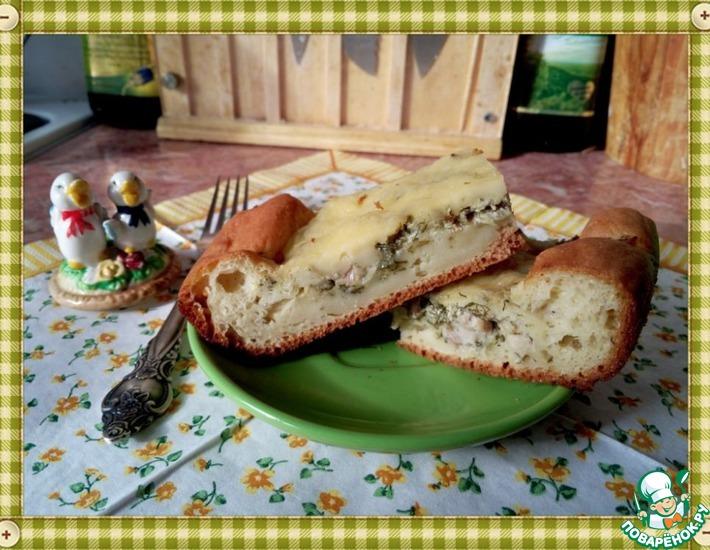 Рецепт: Быстрый пирог с курицей для гостей