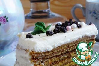 Рецепт: Блинный торт « Зима, прощай!»