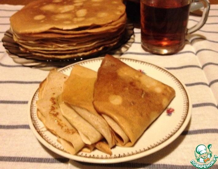 Рецепт: Ржаные блины от А. Зимина