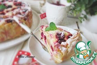 Рецепт: Творожно-ягодный ленивый пирог