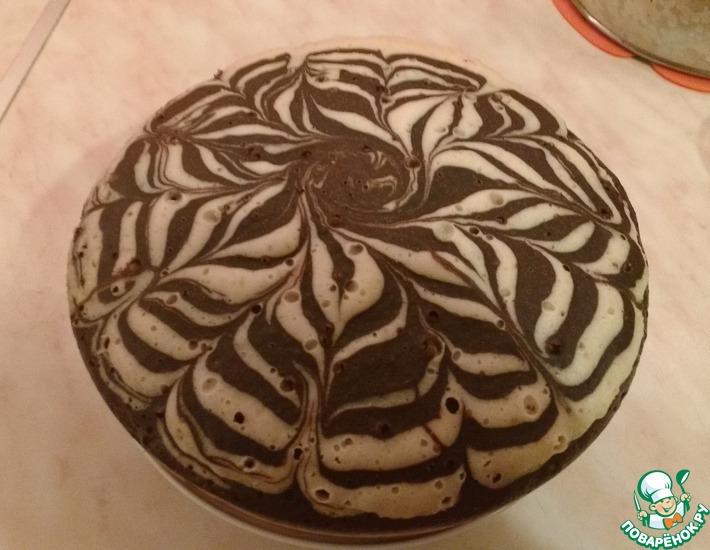 Рецепт: Пирог Зебра в мультиварке