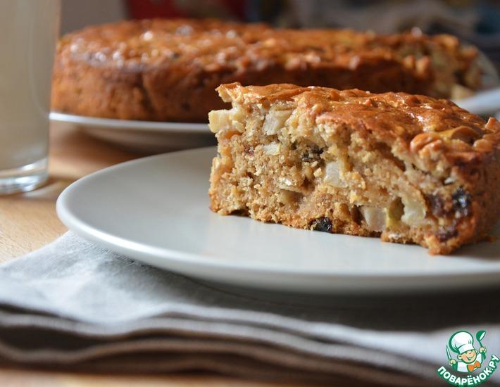 Рецепт: Яблочный пирог с медом