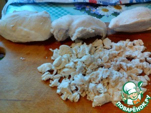Chicken fillet cut into small pieces and send in a separate container.