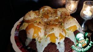 Пирог получился очень шоколадным с приятным миндальным послевкусием.