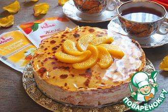 Рецепт: Блинный торт Персиковый