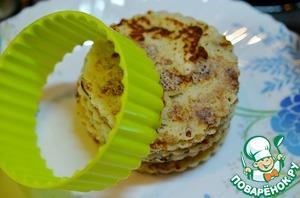 Pancakes cut out the same circles.