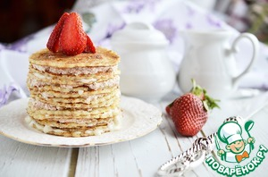 Make cakes to the desired height and garnish with berries or powdered sugar.