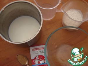 Take warm water and dissolve yeast in it. Milk is also slightly heated.