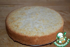 Then gently hold a thin knife between the walls of the mold and a biscuit. To remove the form from the cake.