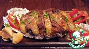 В конце приготовления фольгу развернуть и дать мясу подрумяниться.