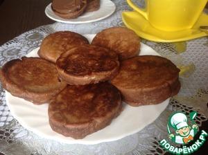 Выпекать оладьи на горячей сковороде с двух сторон на среднем огне. Готовые оладьи подать к столу. Хороши с шоколадной пастой и со сгущеным молоком.