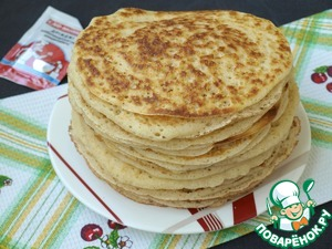 Fold the pancakes heaped on a plate, cover with a suitable bowl.