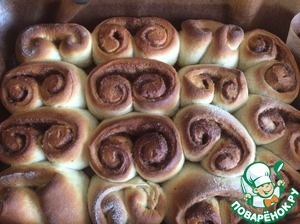 To give the rolls a time for 15 minutes and send in a preheated 200 gr oven for 20 min.