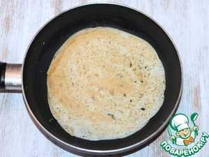 6. Heat on medium heat the pan. Lightly grease melted butter and bake pancakes on both sides.