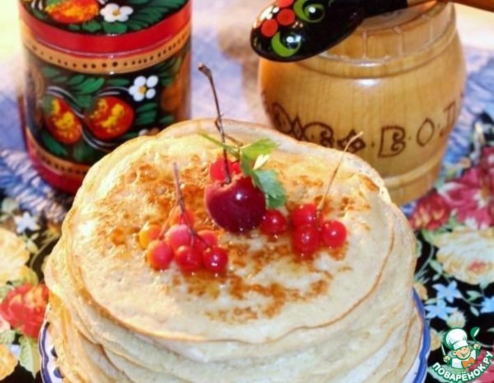 Рецепт: Пряные дрожжевые блины с медом