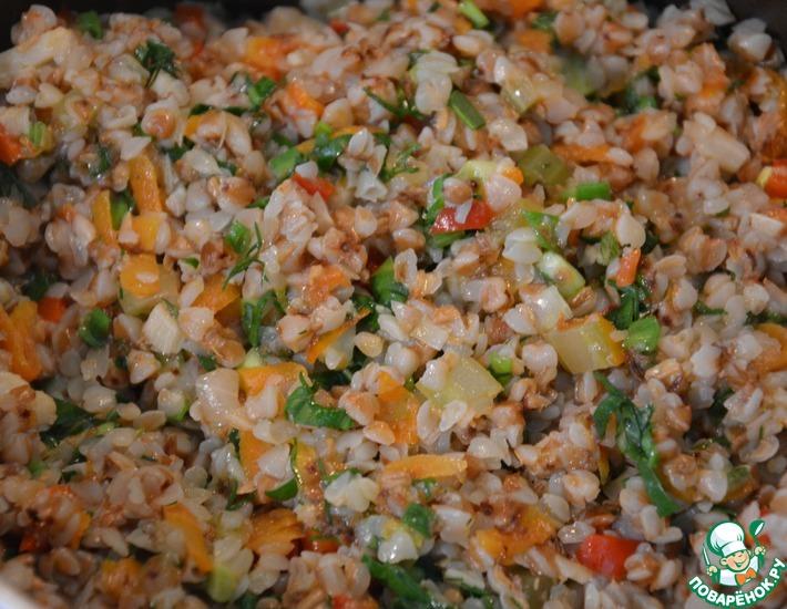 Рецепт: Гречка с овощами Богатая