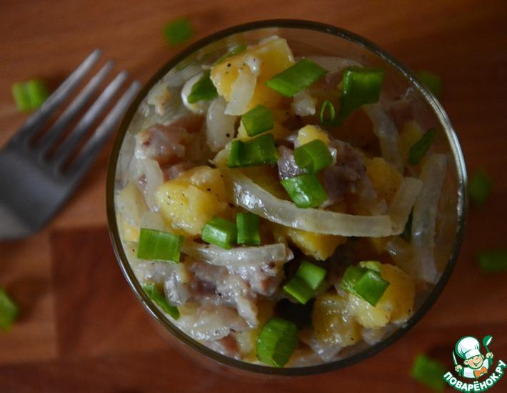 Рецепт: Салат с сельдью и картофелем
