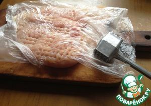Chicken fillet wash, dry. Discourage using plastic wrap.