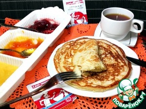 Pancakes are very soft and fragrant!  I really like coconut flavor.