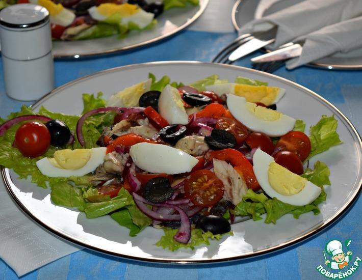 Рецепт: Салат со скумбрией а-ля Нисуаз
