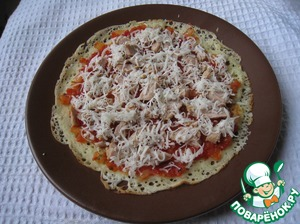 Sprinkle with grated cheese and tightly roll rolls. Put on a plate seam side down while fold the rest of the pancakes.