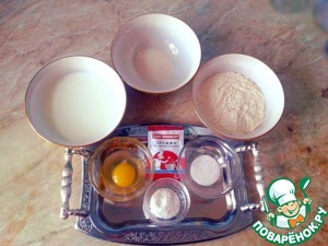 Prepare everything you need for pancake dough ingredients
