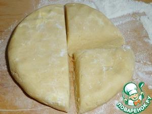 Dough to divide into 3 parts.