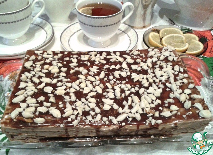Быстрый вафельный торт