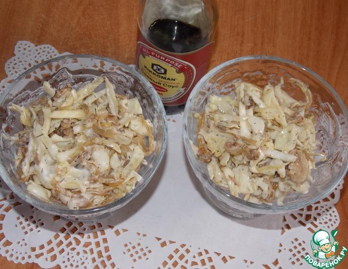 Рецепт: Салат из капусты и курицы