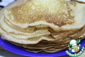 Before baking, add the vegetable oil and bake pancakes.