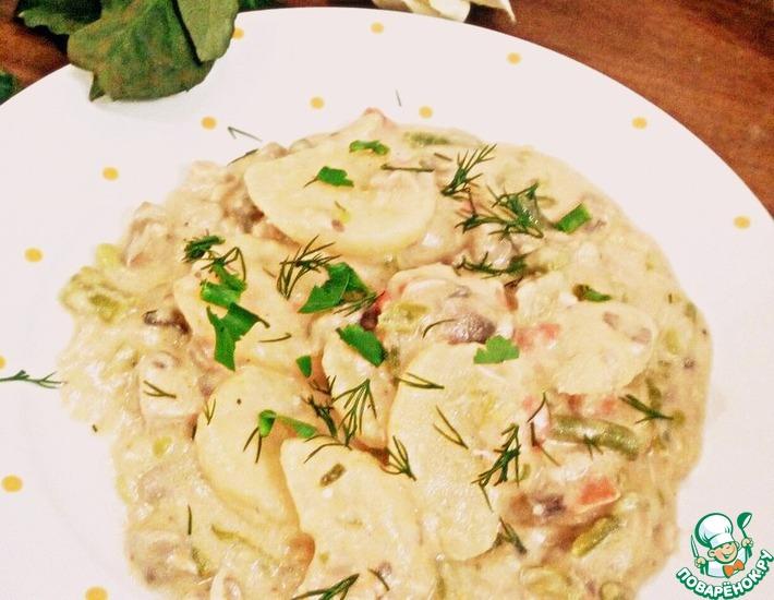 Рецепт: Курица с овощами Шампиньон де пари