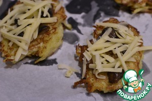 Sprinkle with grated cheese bake in preheated oven for about 15 minutes.