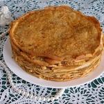 Блинный торт с яблочной начинкой