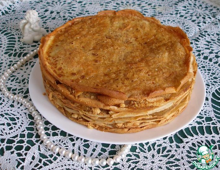 Рецепт: Блинный торт с яблочной начинкой