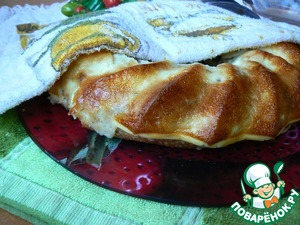 Bake in preheated oven at 175 degrees for about 30 minutes. Filling needs to set. Bon appetit!