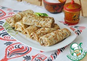 Serve the pancakes cold as a snack.  Bon appetit!