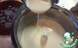 По консистенции тесто получается, как на этом фото.   Когда сковорода разогрелась, налить чуть меньше 1 поварешки теста. Дождаться, когда поверхность блина станет сухой и перевернуть его. обжарить с другой стороны.